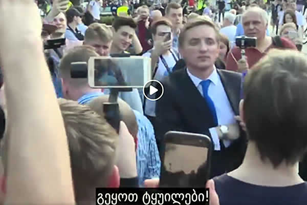 Protest against Russian propaganda in Moscow